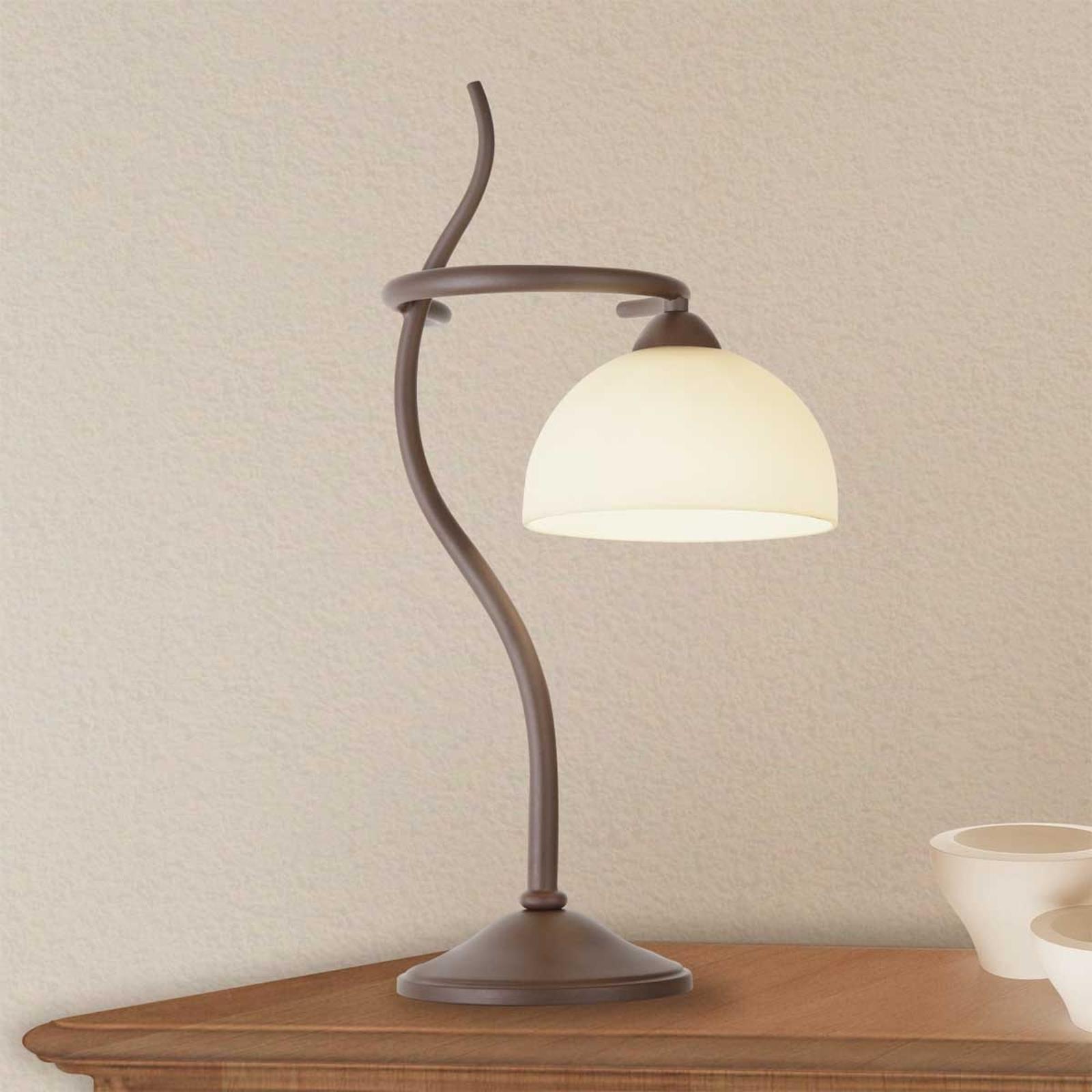 Tafellamp Christian in bruin
