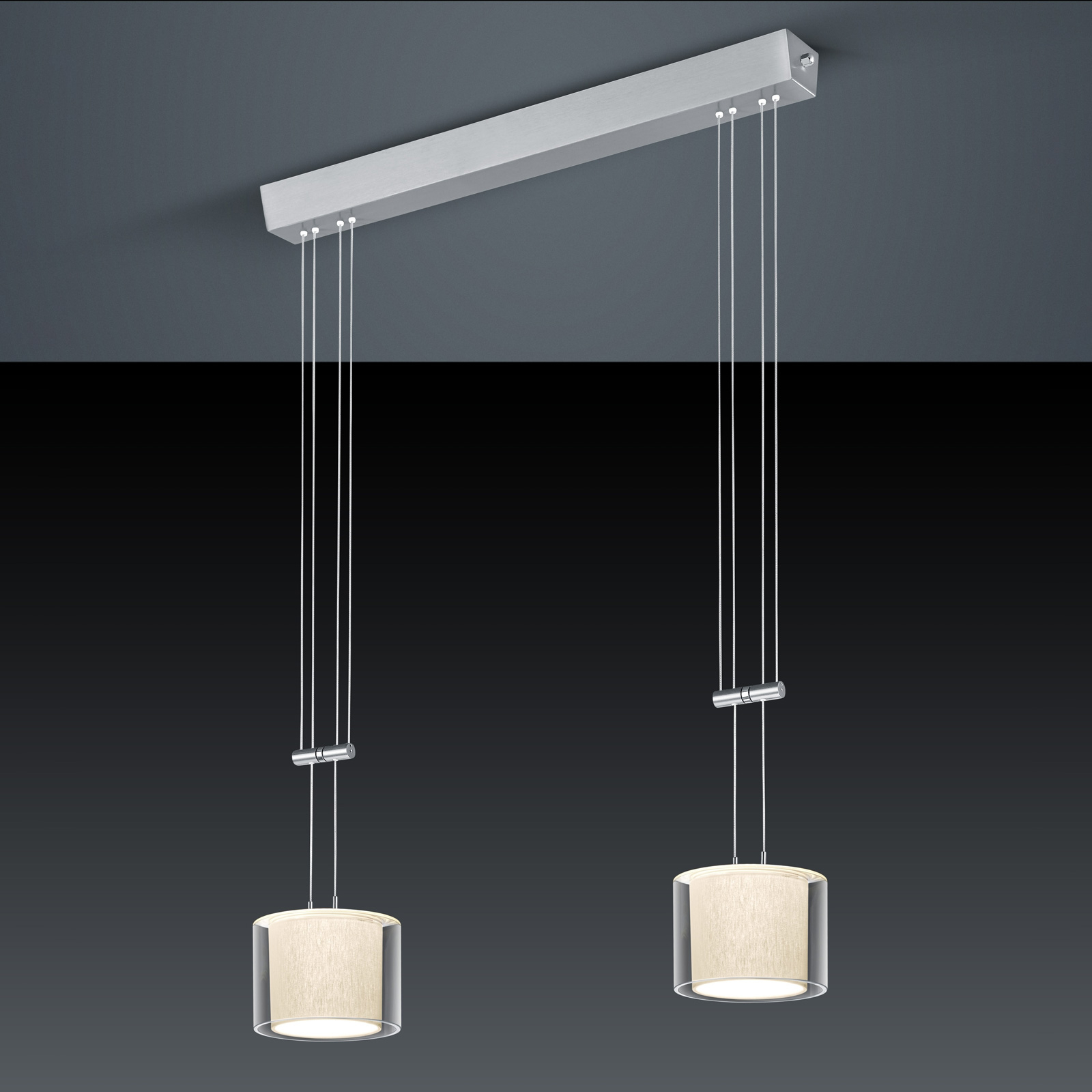 BANKAMP Cecil LED hanglamp, 2-lamps