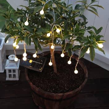 Catena luminosa solare LED Globini, luce calda