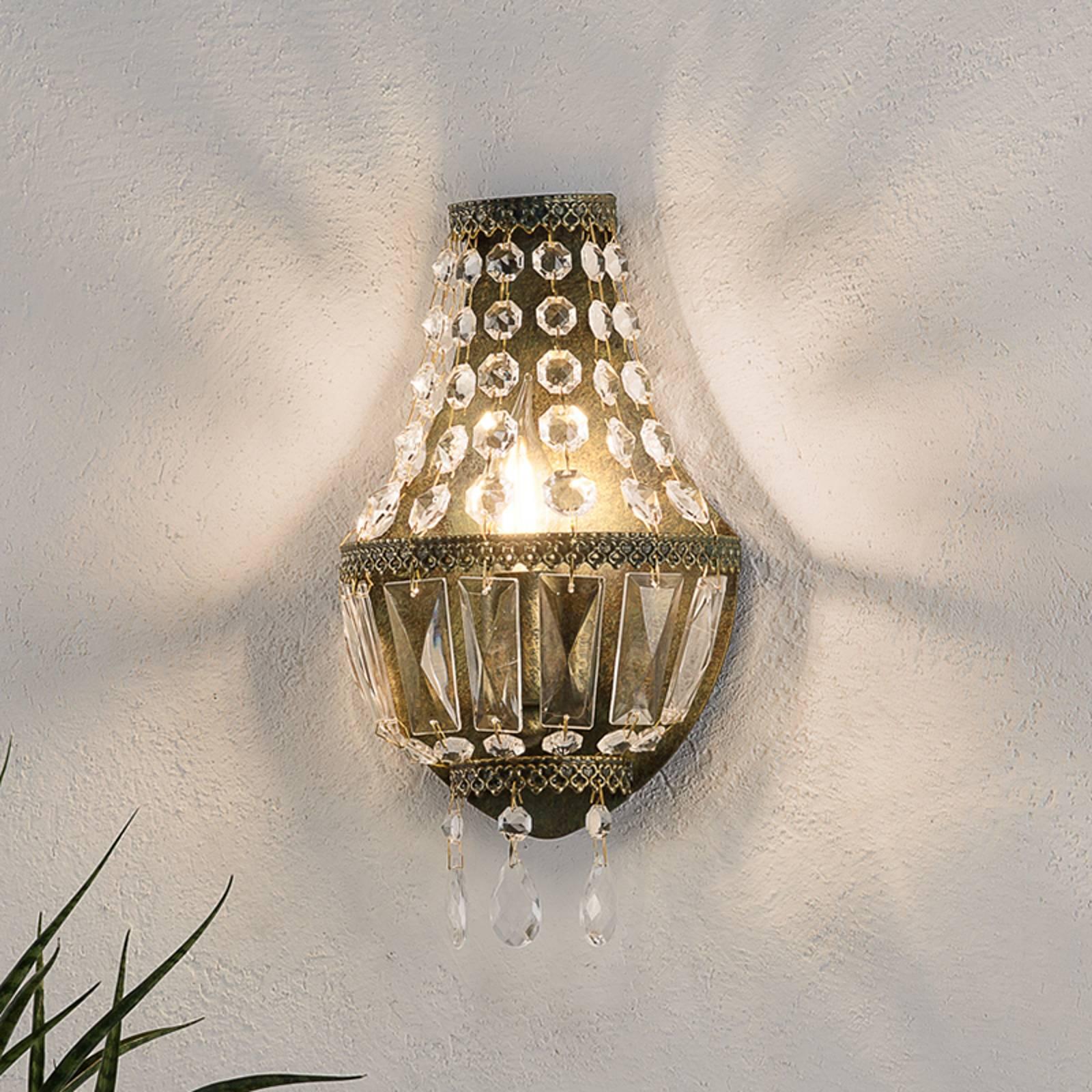Kristallen wandlamp CUPOLA