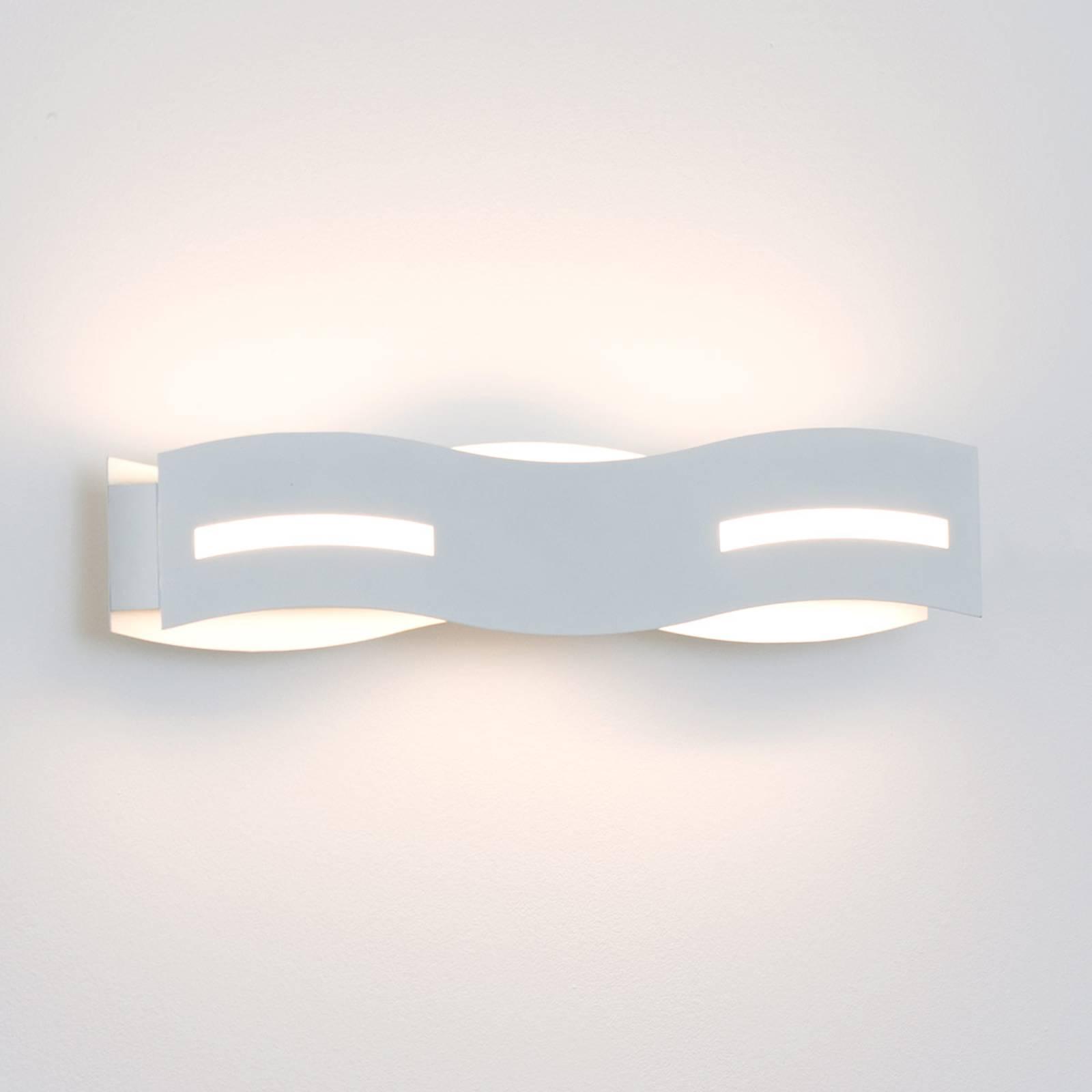 Applique LED Wave blanc