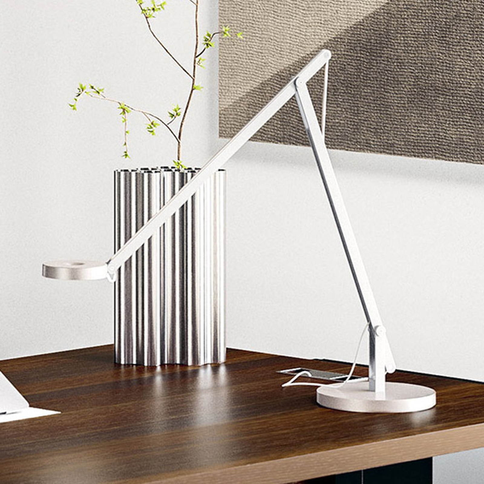 Rotaliana String T1 DTW LED-Tisch weiß, silber