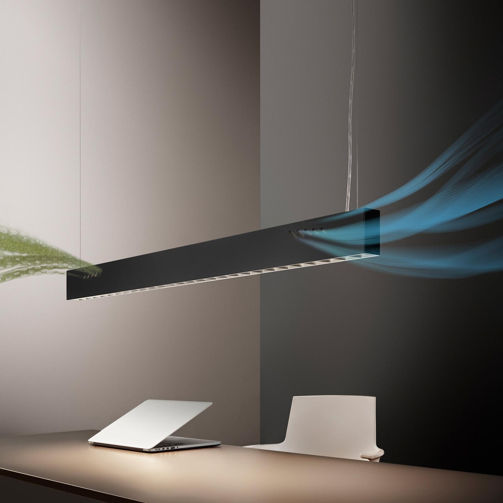 OLEV Pure BioAir LED-Hängeleuchte, 3.000 K schwarz