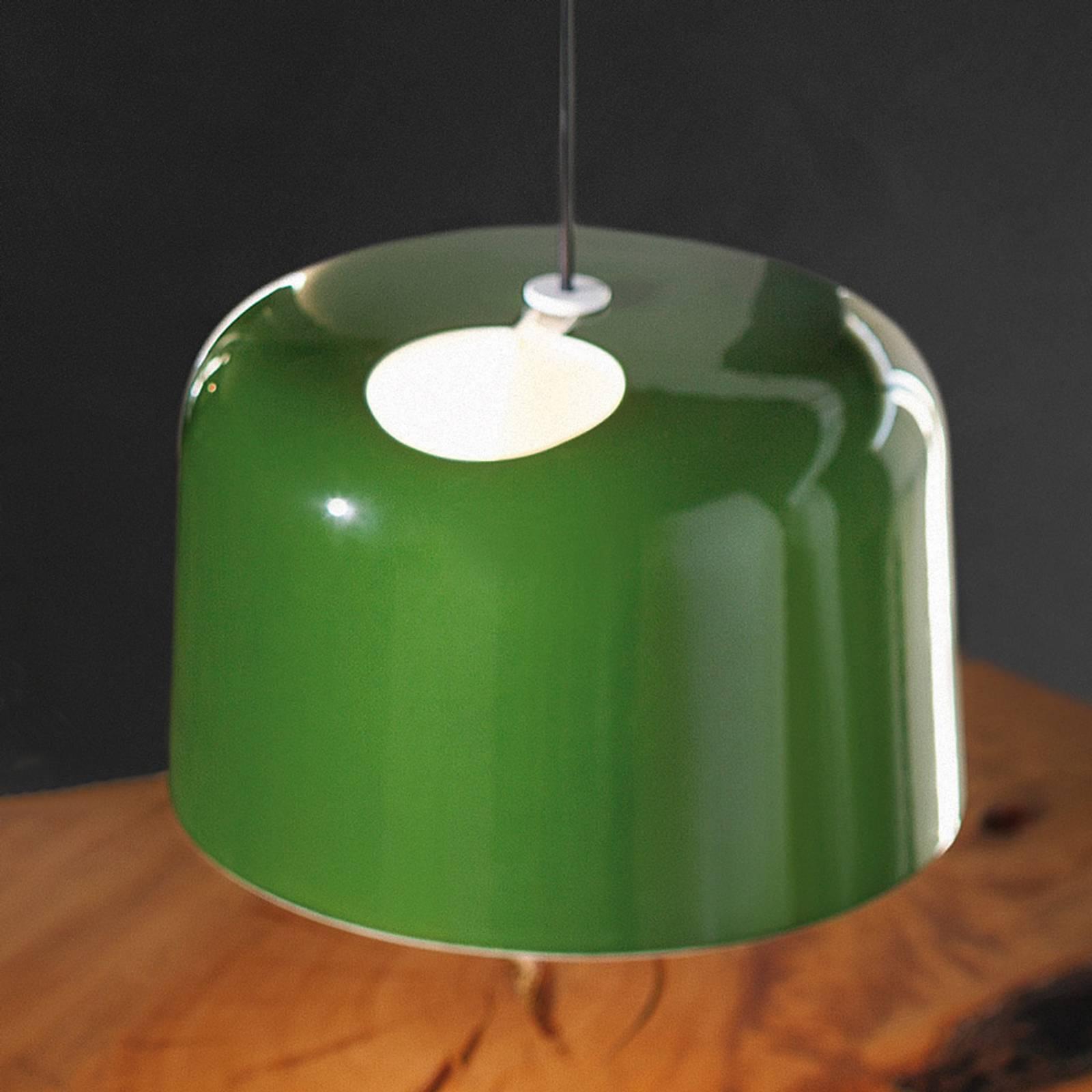 Groen glanzende keramiek-hanglamp Add