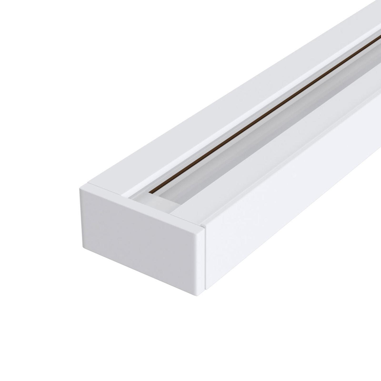 Track 1-faset skinne i hvid, 100 cm