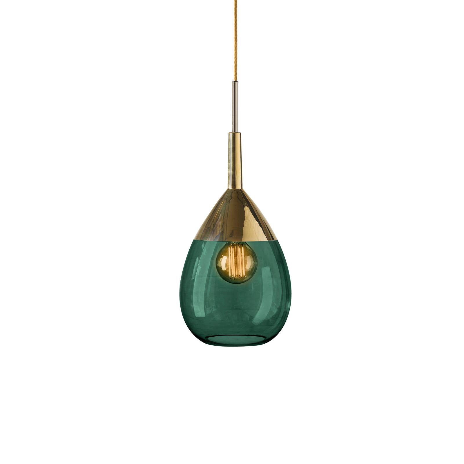 EBB & FLOW Lute suspension ivy green/gold Ø 22 cm