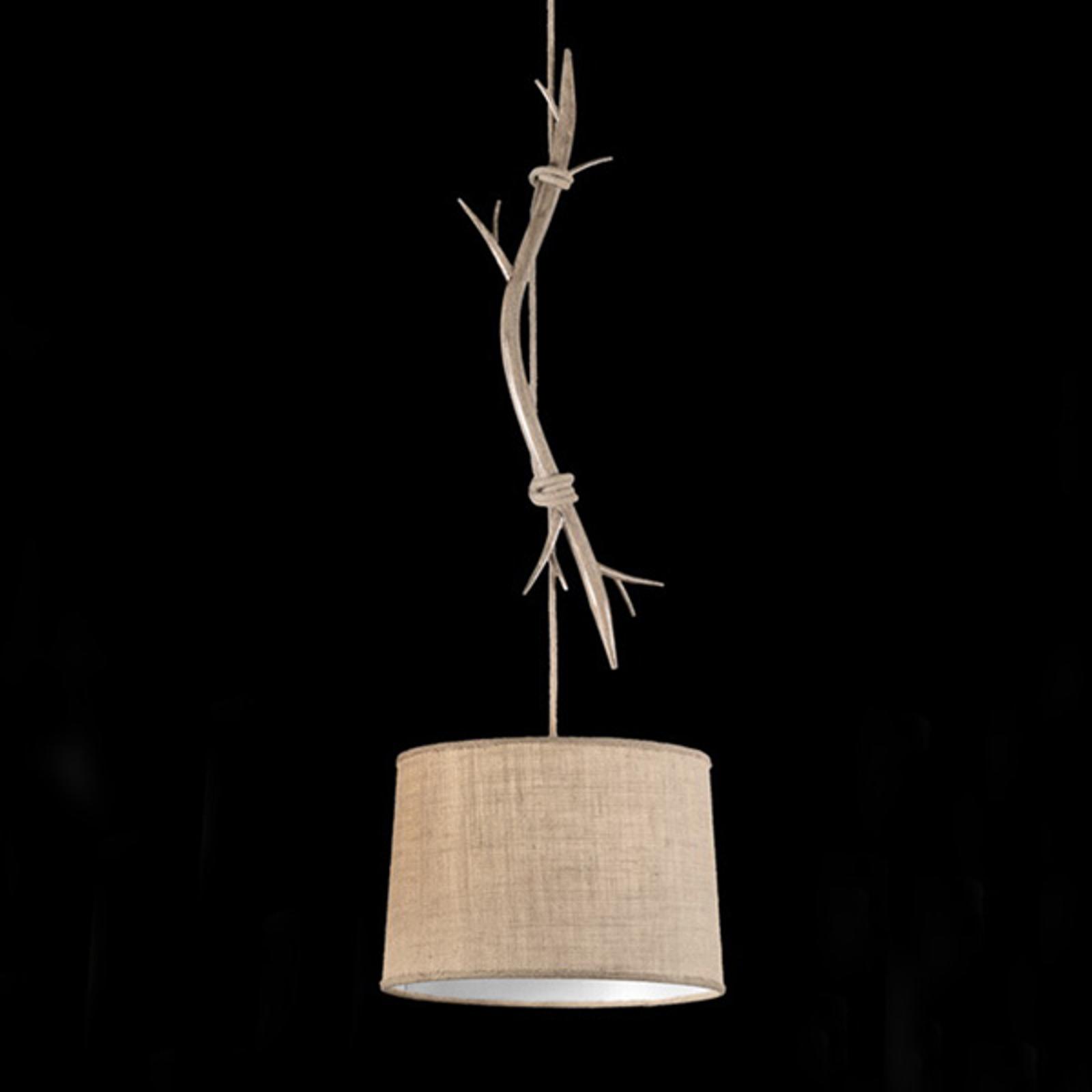 Hanglamp Sabina met stoffen kap, 1-lamp, 35 cm