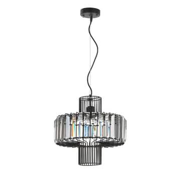 Lámpara colgante Flo de barras de cristal y metal