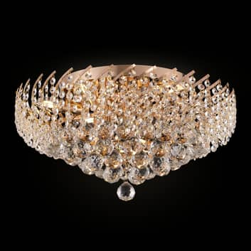 Kristallen plafondlamp Karolina Ø 51 cm
