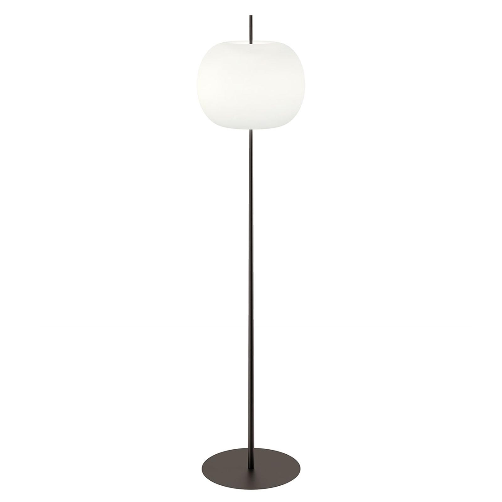 Kundalini Kushi XL vloerlamp, zwart