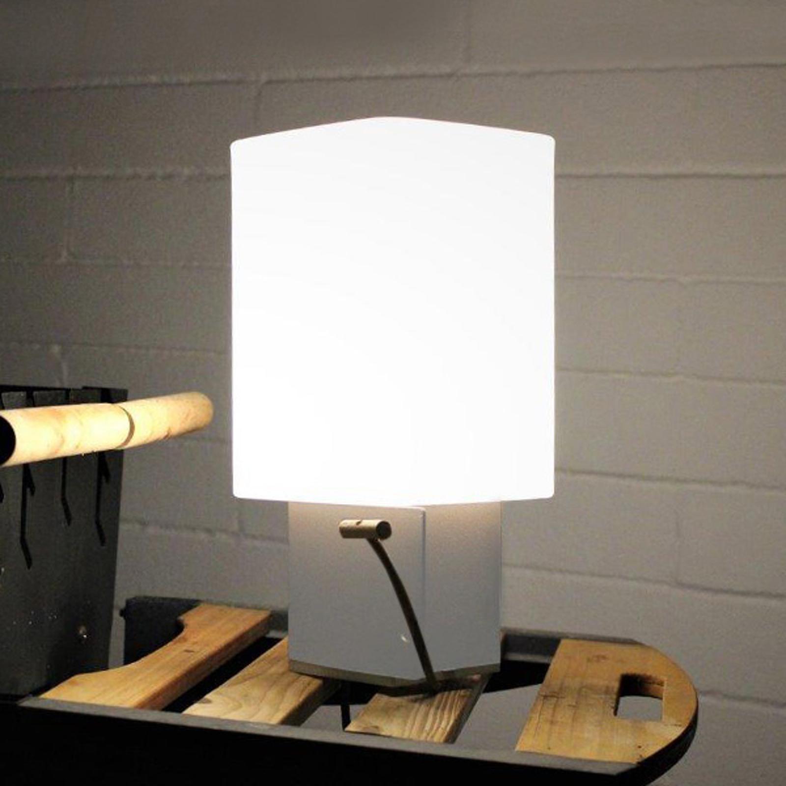 Lampe ext. déco LED Cuadrat - 6 ports USB, blanche