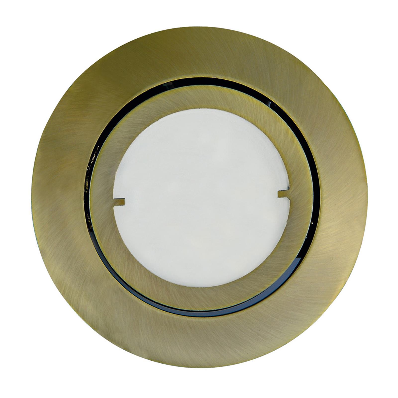 Joanie - LED-Einbauleuchte in Altmessing