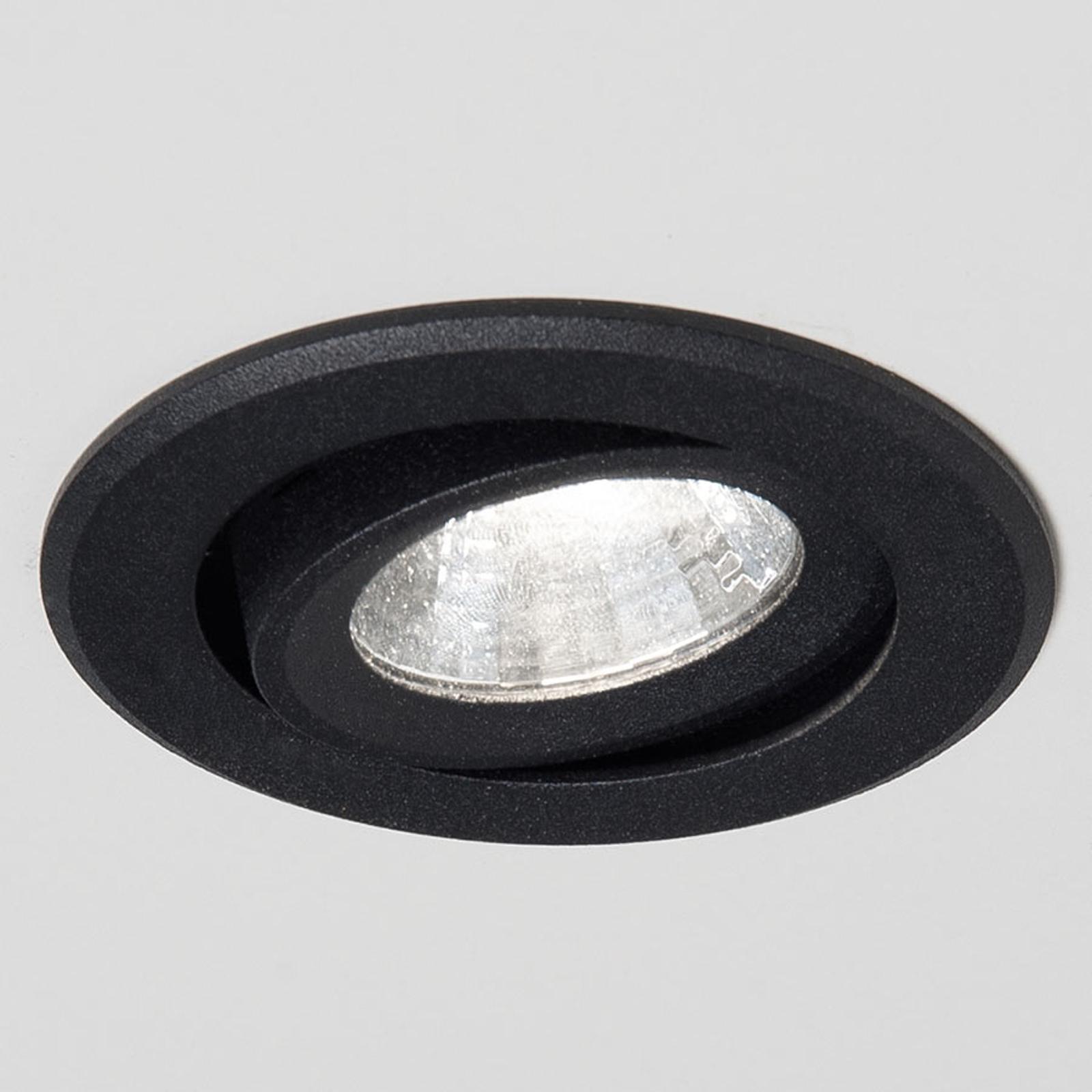 Agon Round LED inbouwspot 3.000K 40° zwart