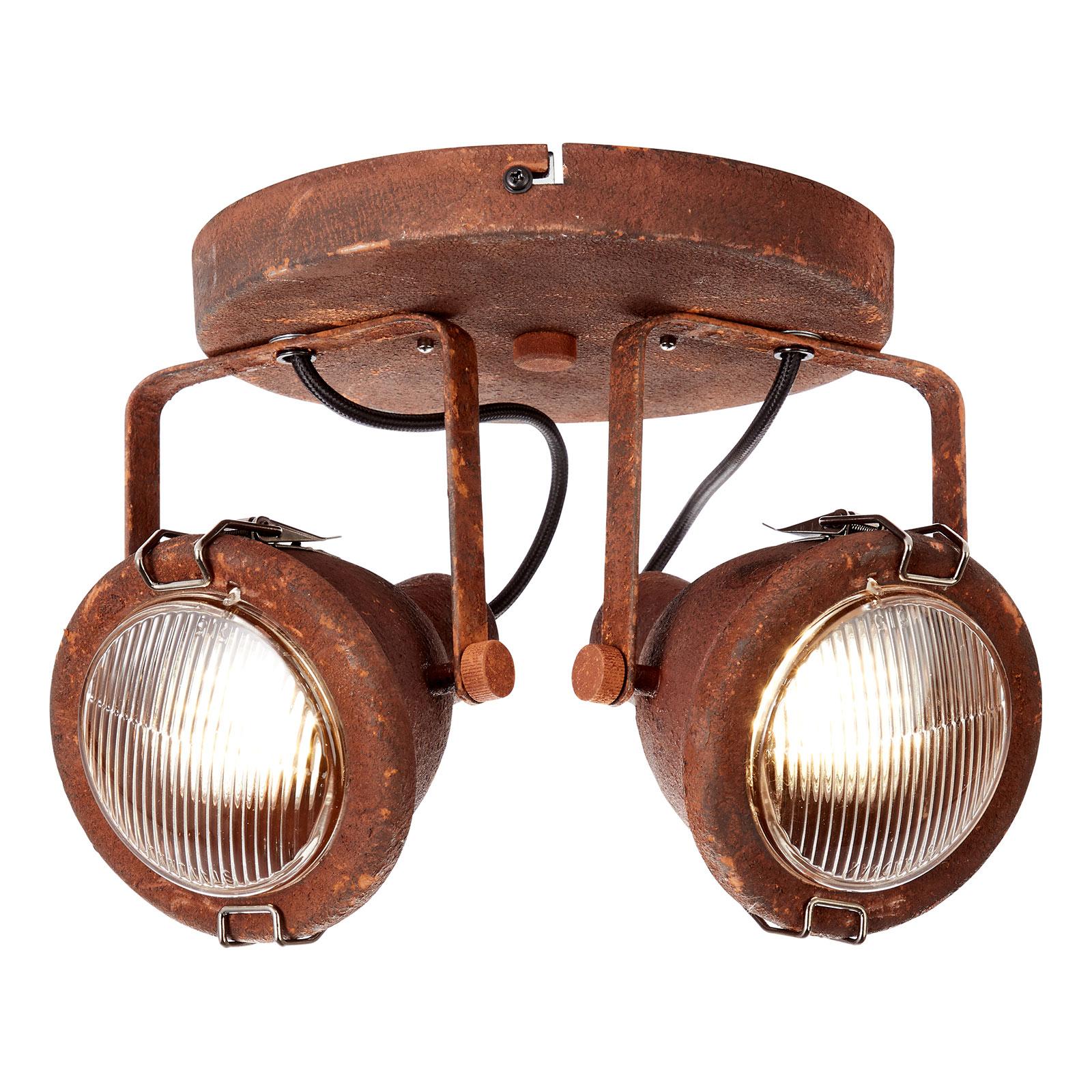 Modna industrialna lampa sufitowa Bentli 2-pkt.