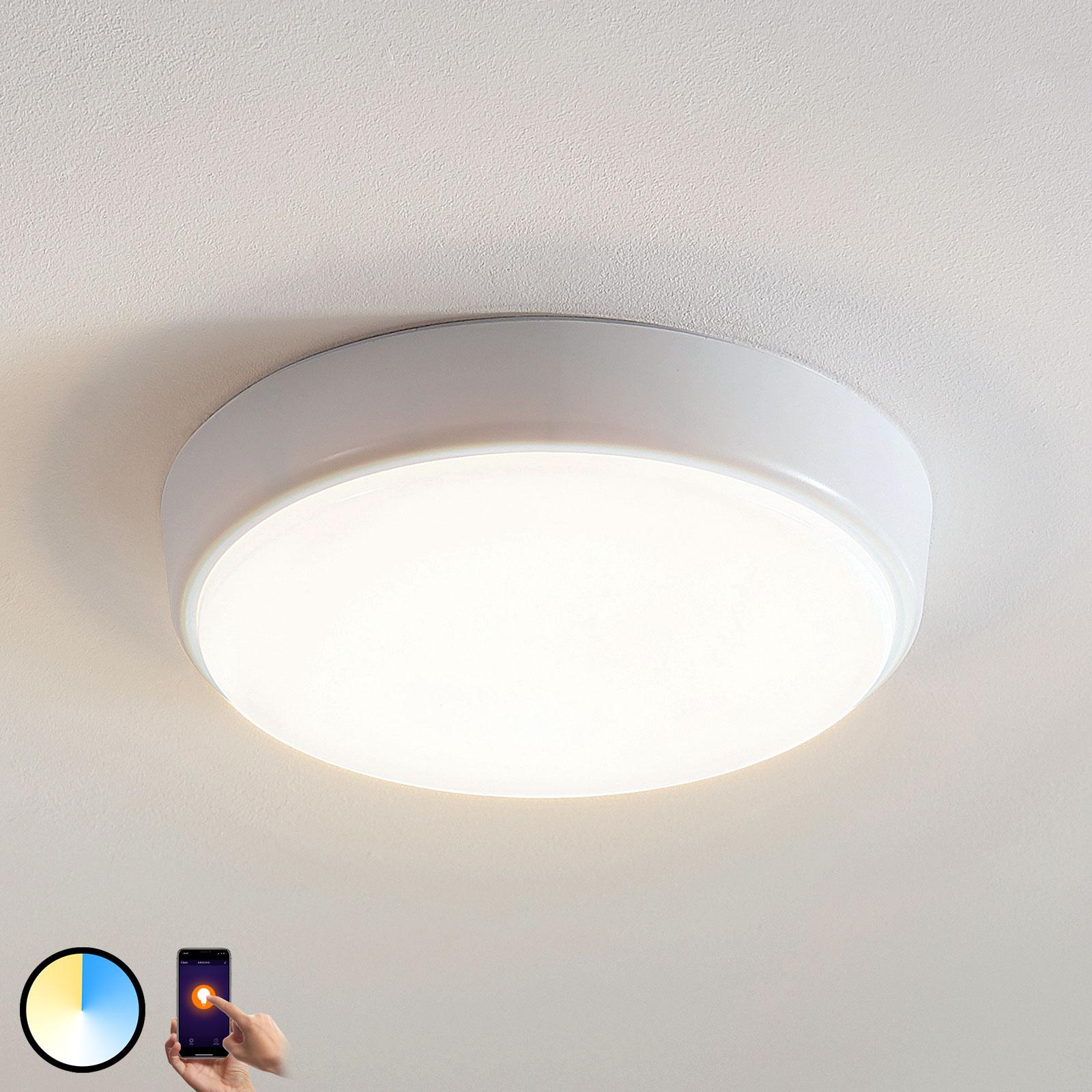 Arcchio Finn LED-taklampe, kontrollerbar, Ø 25 cm