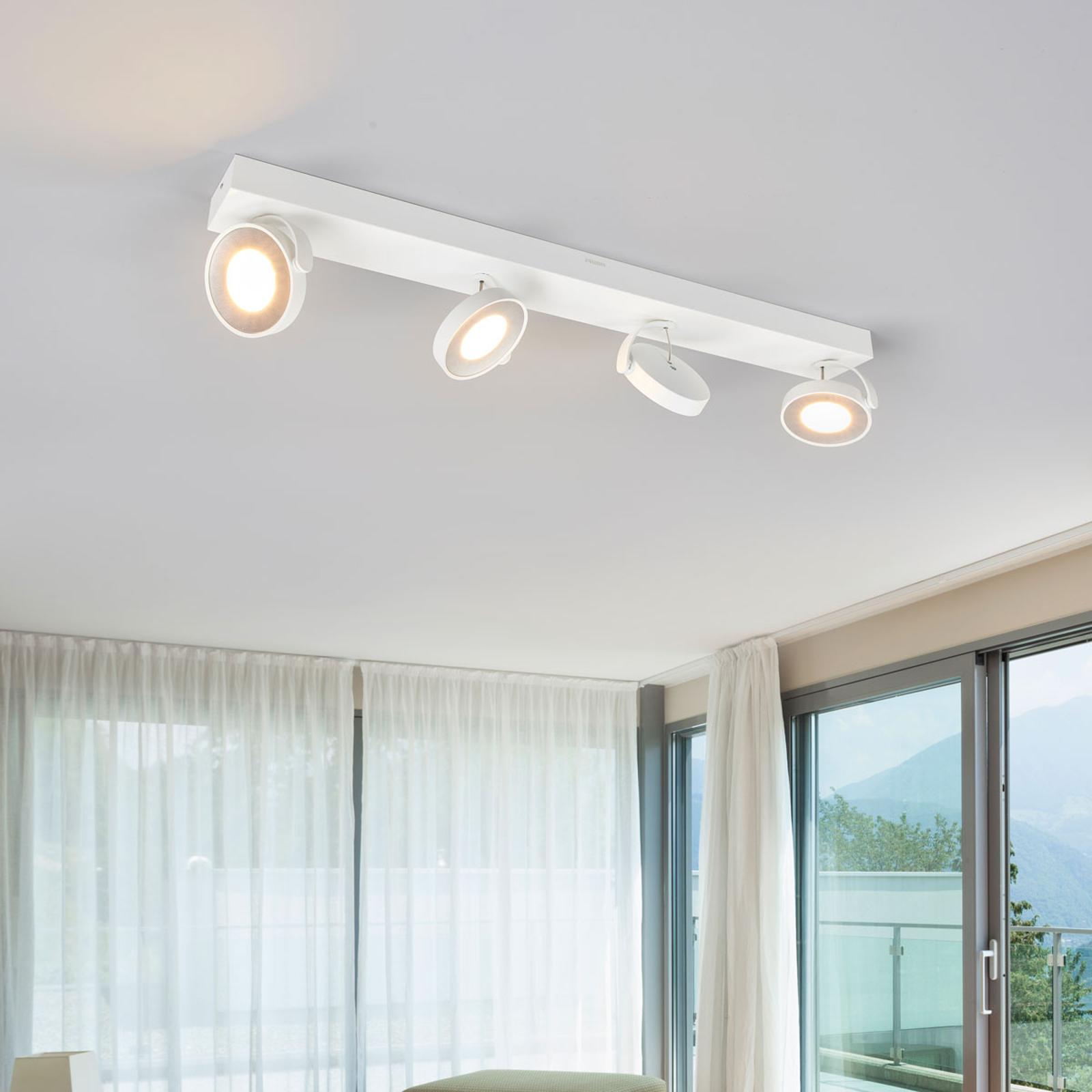 Biały reflektor sufitowy LED Clockwork