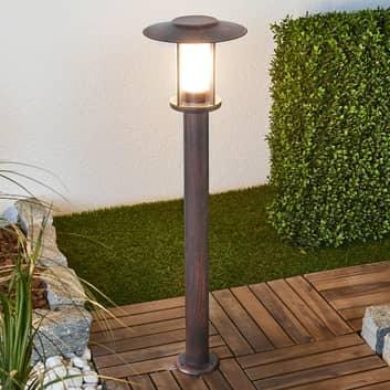 Rostfärgad LED-väglampa Pavlos