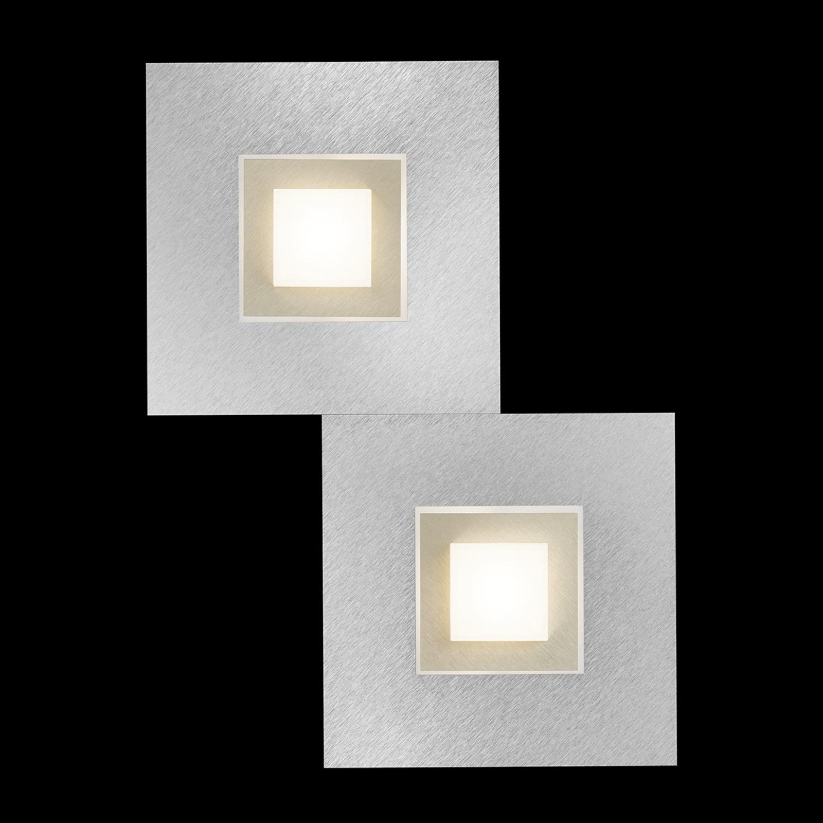 GROSSMANN Karree LED-Wandleuchte, 2fl. champagner