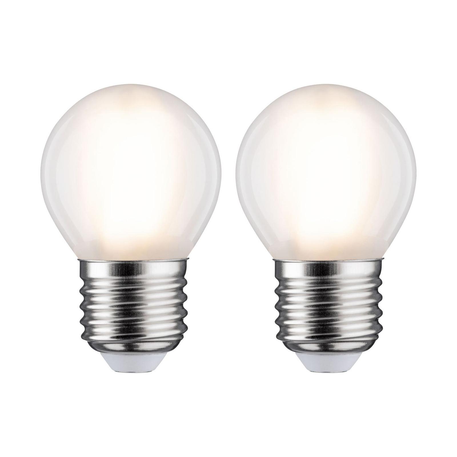 Paulmann LED-Tropfen E27 5W 2.700K matt 2er-Pack