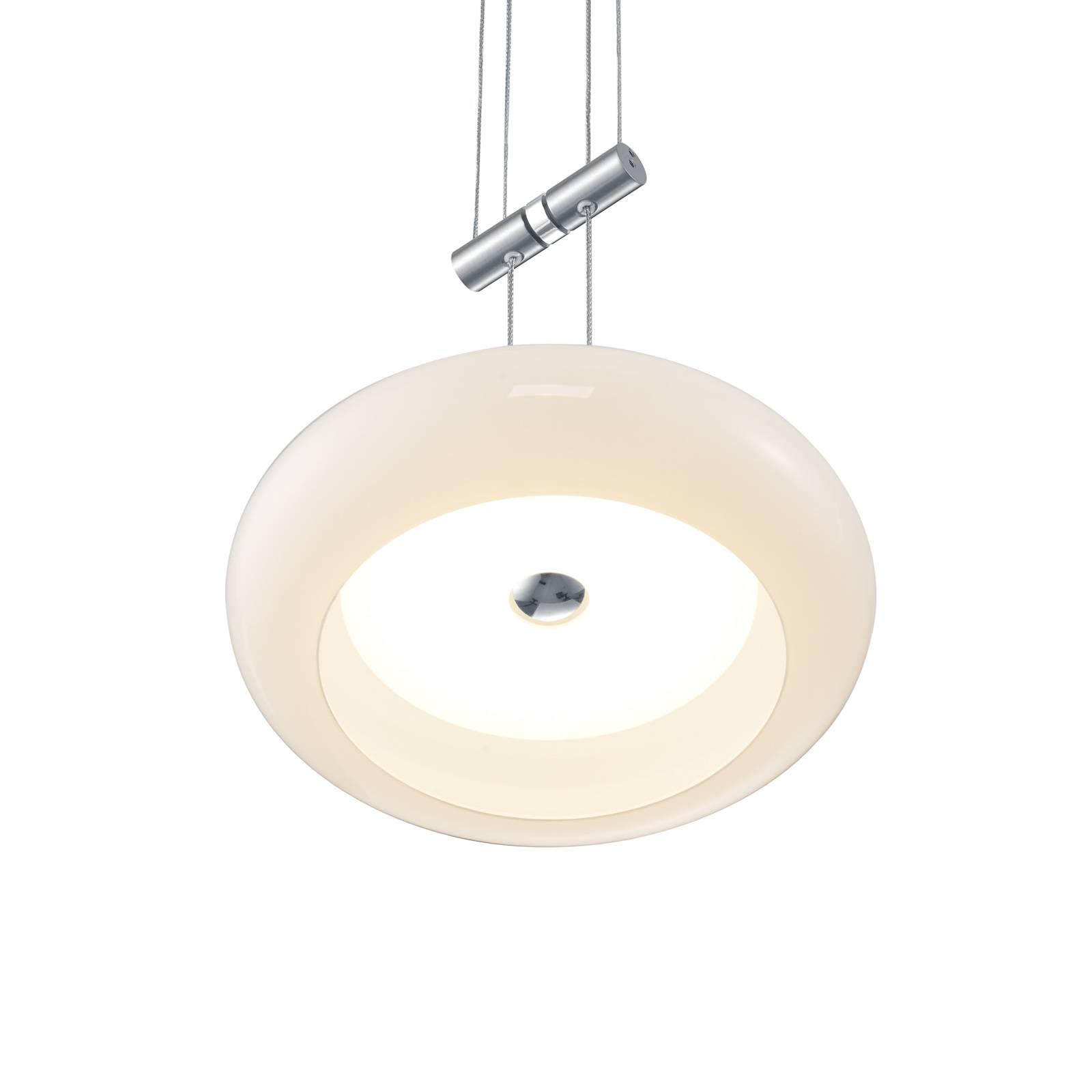 BANKAMP Centa suspension à 2 lampes nickel
