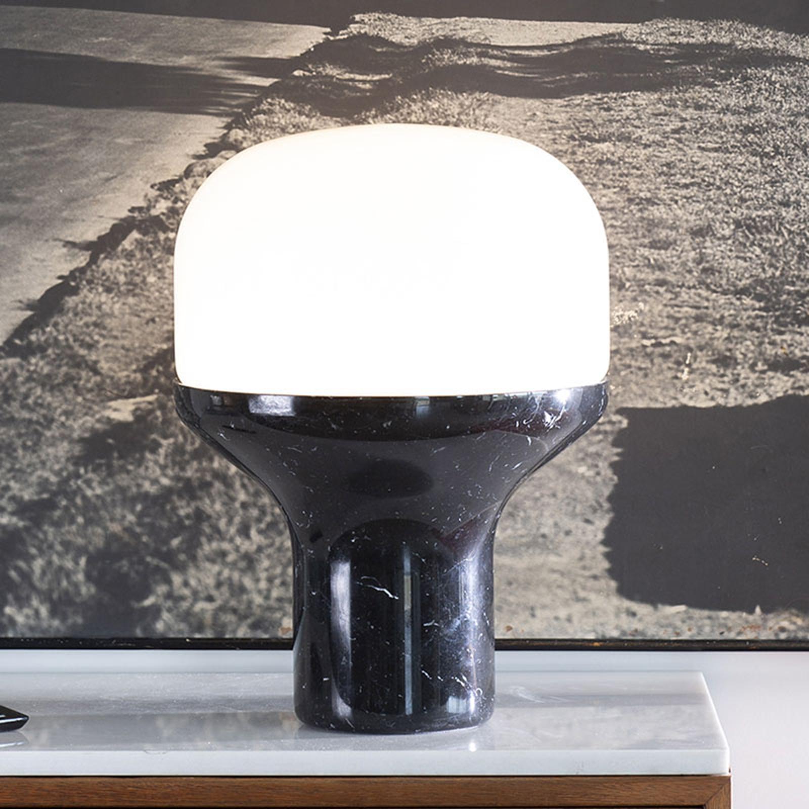 Martinelli Luce Delux Tisch 43cm Marmor schwarz