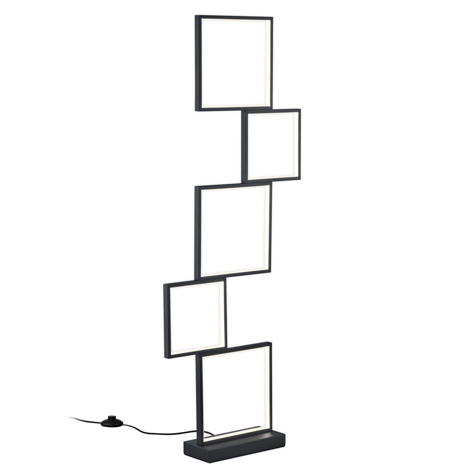 LED stojací lampa Sorrento, matná černá