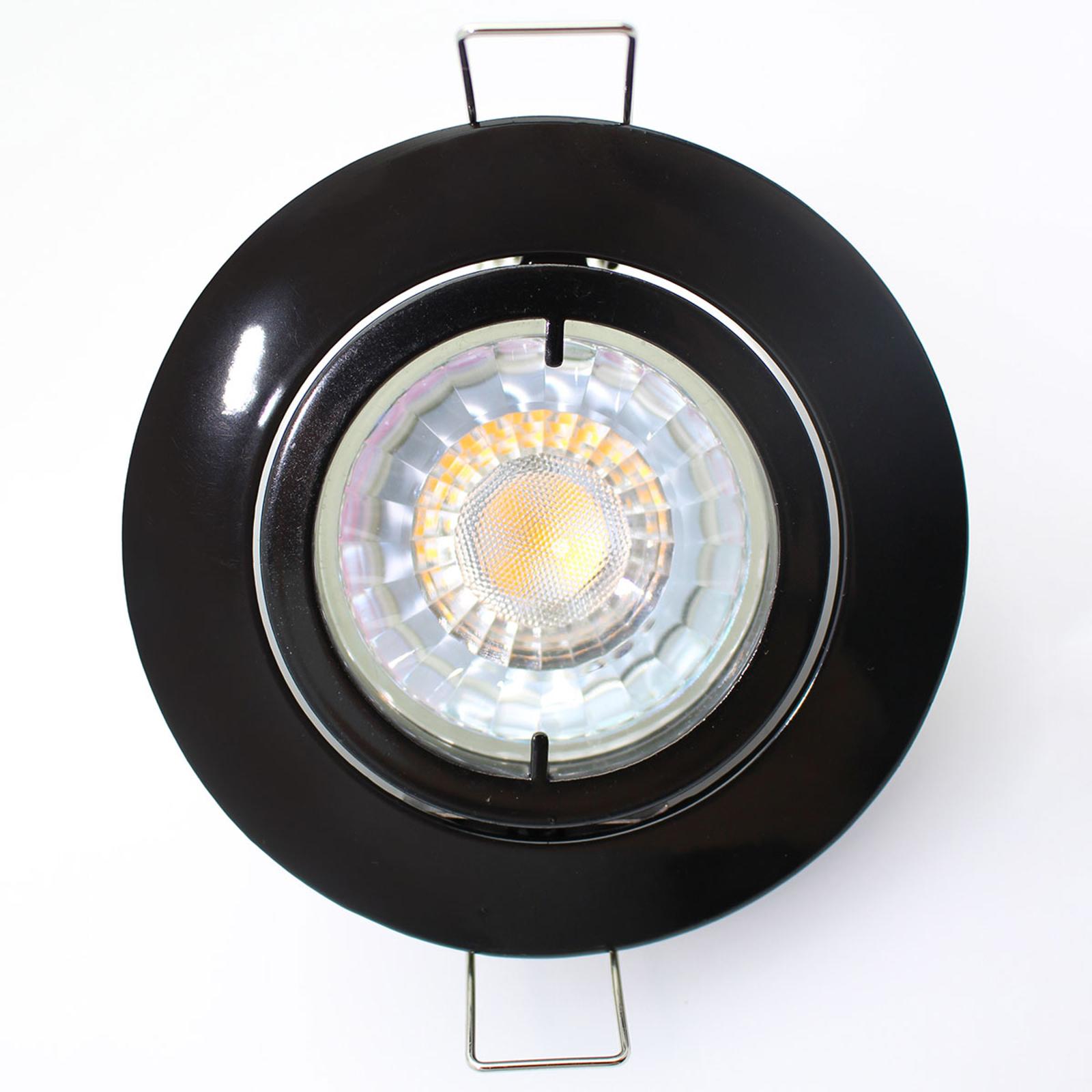 Snok højvolt-indbygningslampe Snok, sort