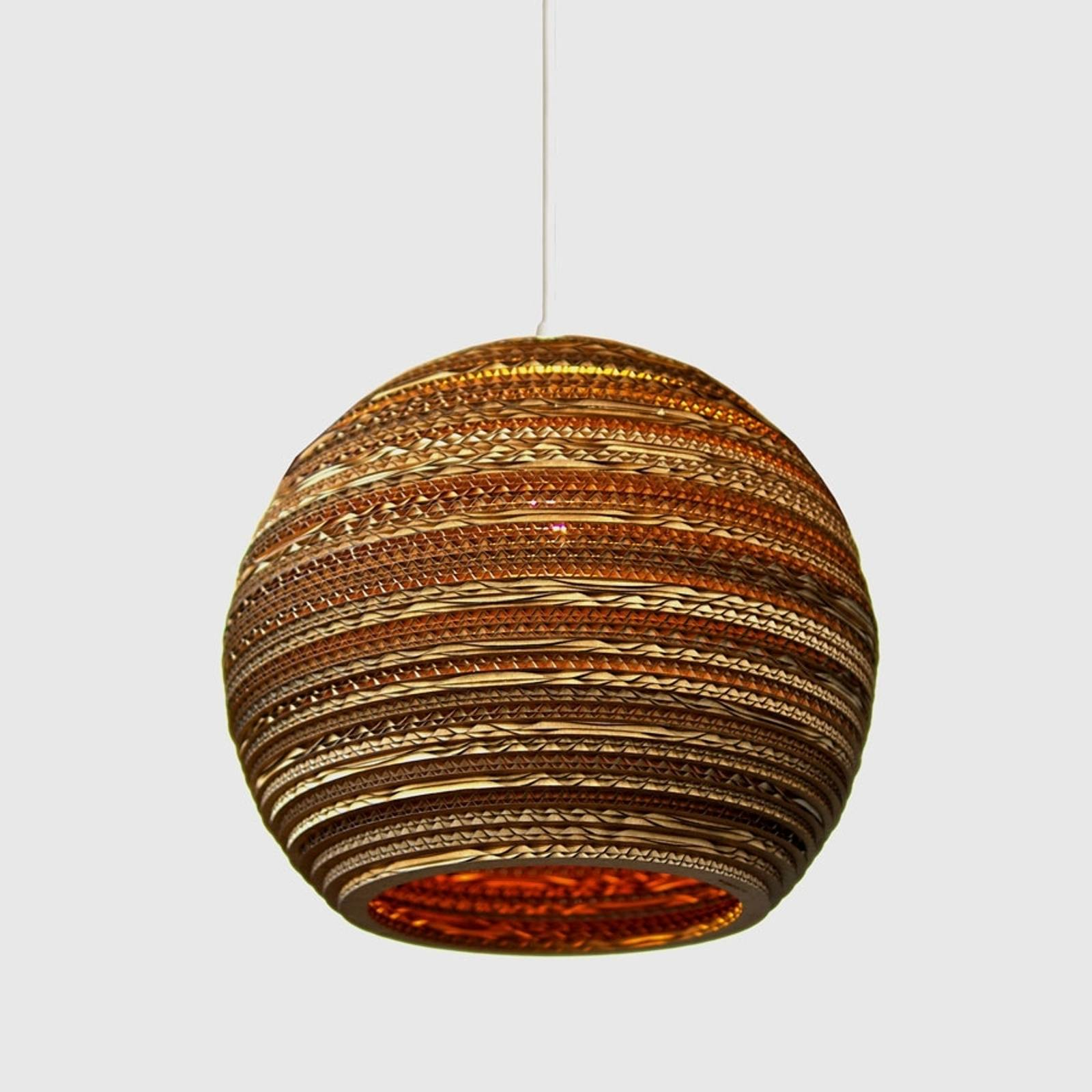 Ball okrągła lampa wisząca z kartonu 36 cm