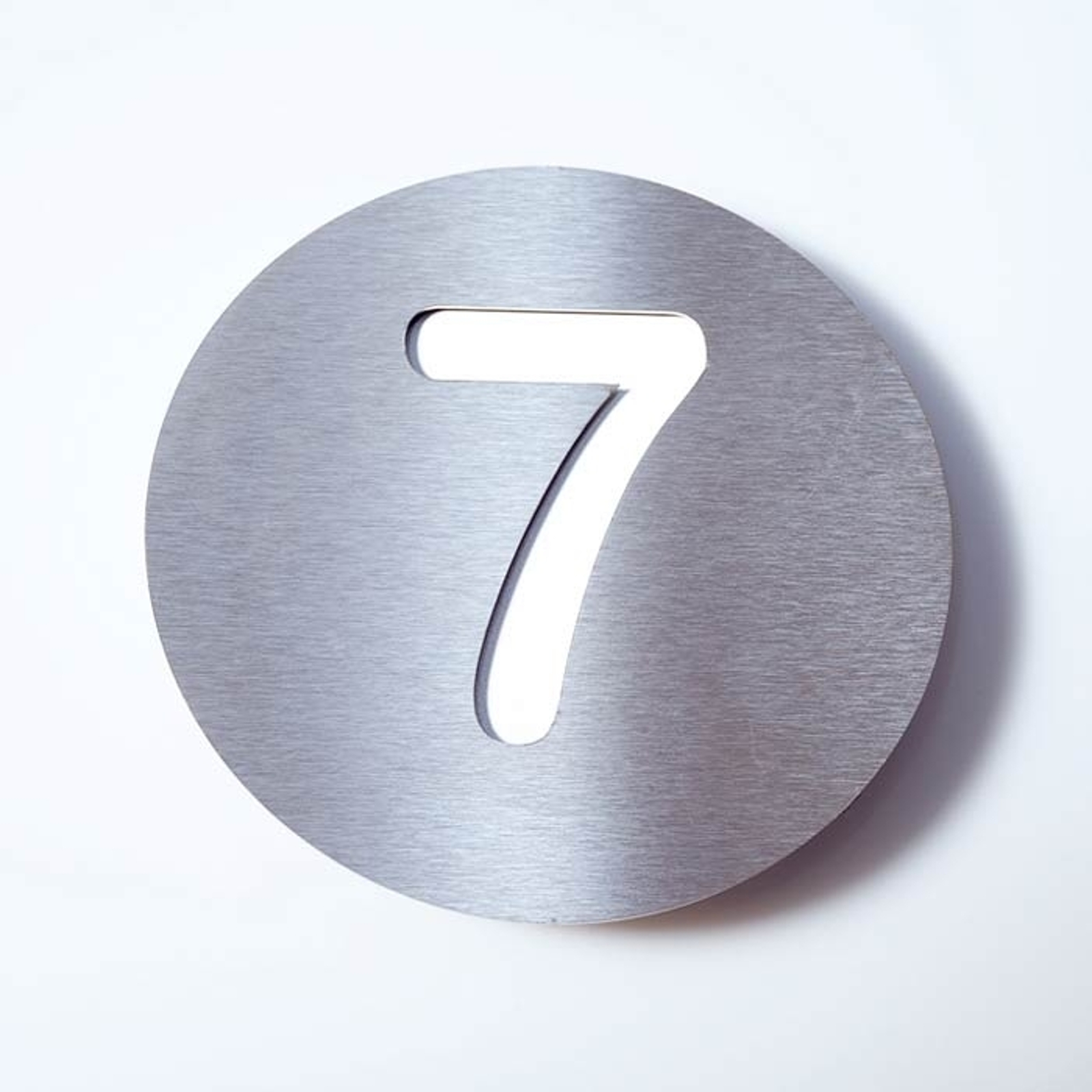 Stainless steel house number Round_1057085_1