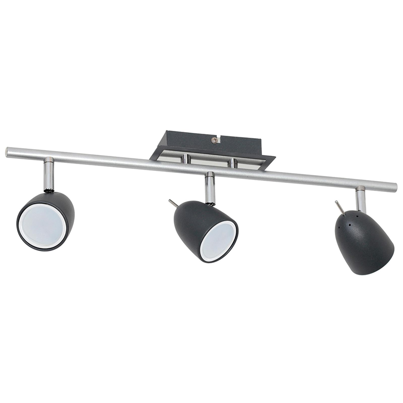 Faretto da soffitto Taylor, nero/cromo, 3 luci