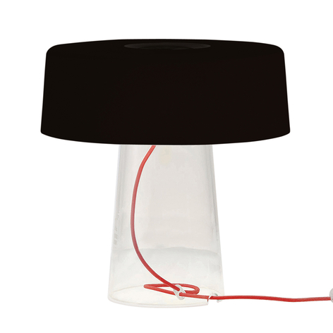 Prandina Glam Tischlampe aus mundgeblasenem Glas