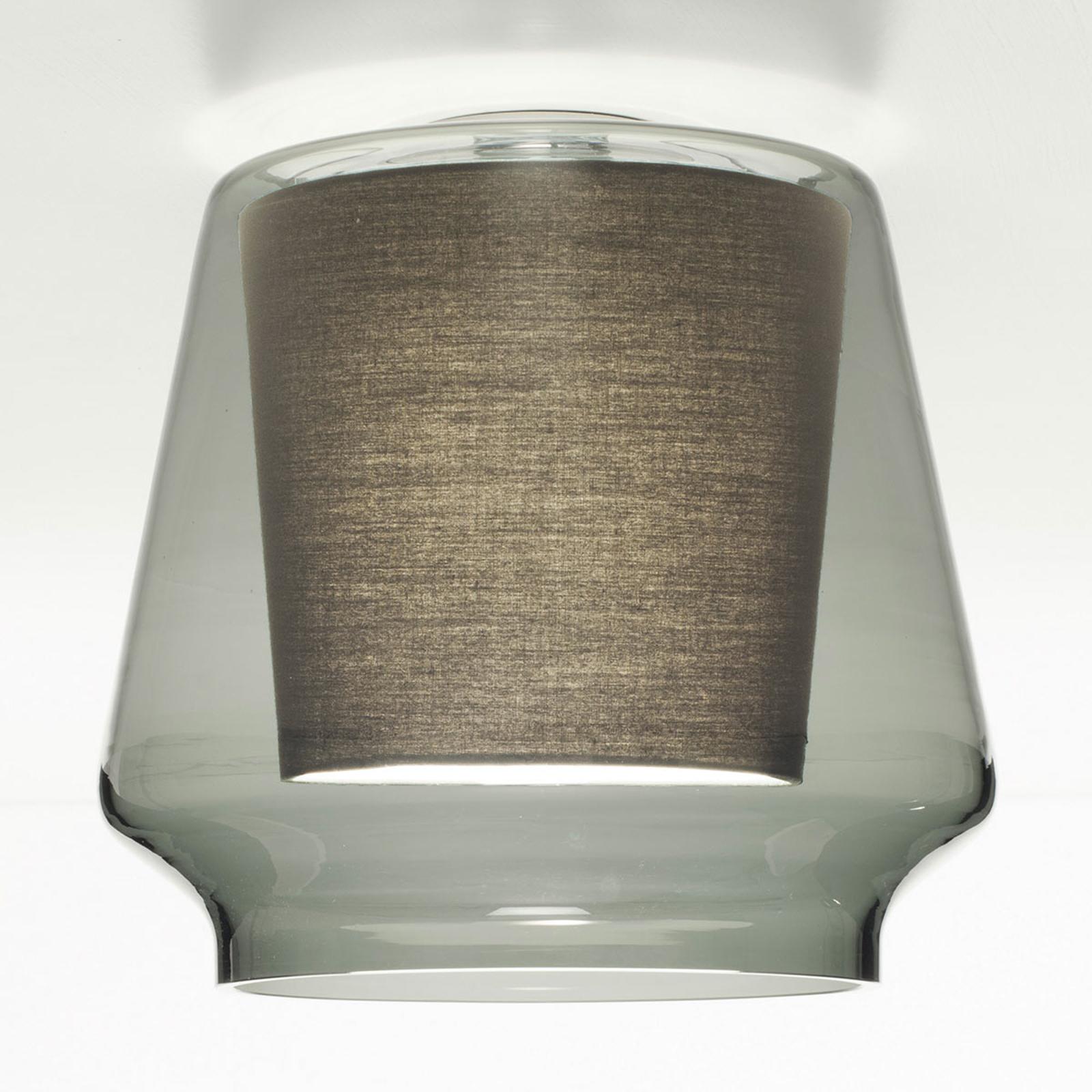 Casablanca Aleve plafondlamp, rook, antraciet
