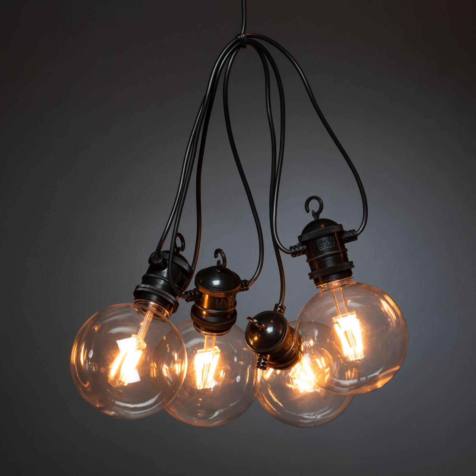 LED-Party-Lichterkette Globe außen, zehnflammig