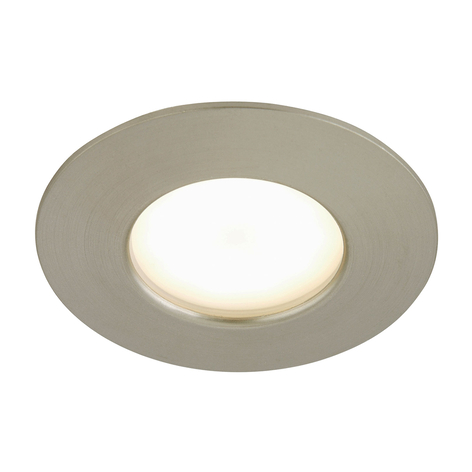 Spot encastré LED Felia IP44, nickel mat
