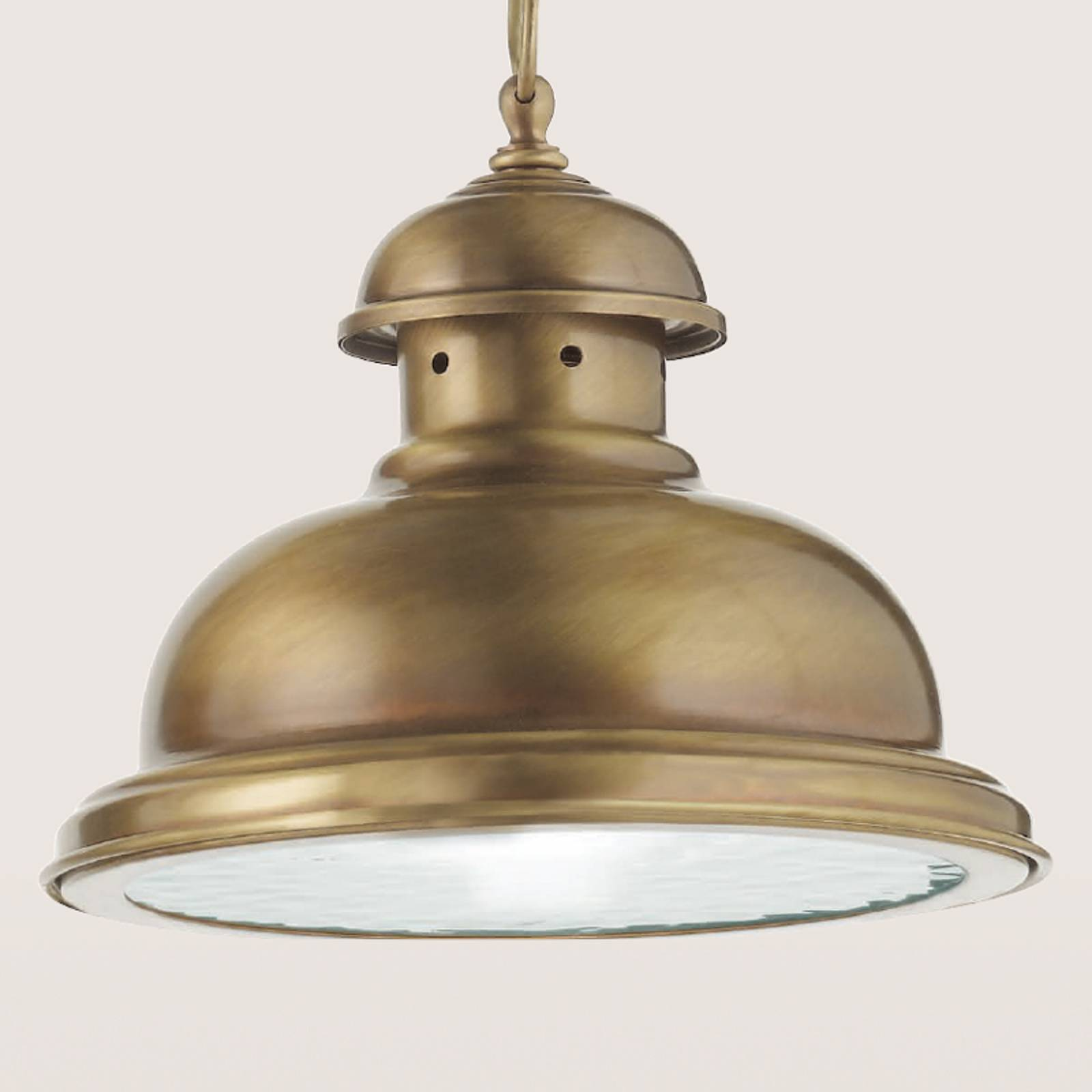 Lampa wisząca Scirocco, 25 cm mosiądz satynowany
