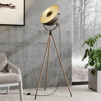 Lindby Scharlie lampadaire à abat-jour métallique