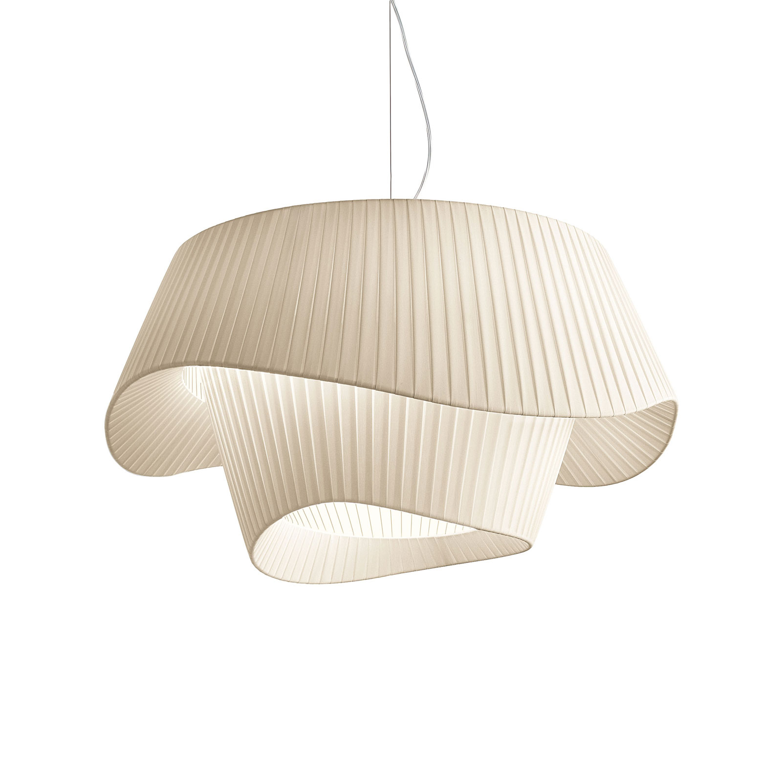 Modo Luce Cocó lámpara colgante textil Ø60cm beige