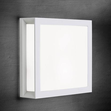 Henry - Aplique para exterior cuadrangular blanco