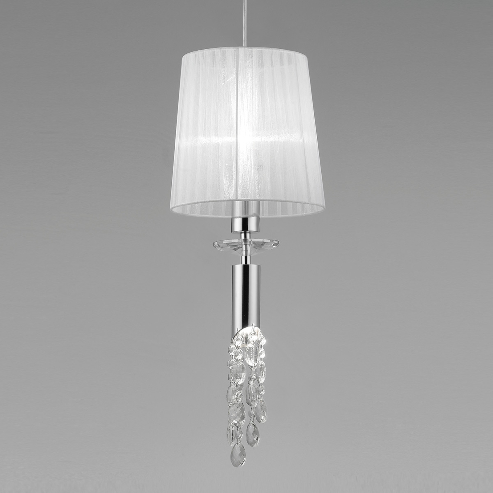 Suspension Lilja avec cristaux, à 1 lampe