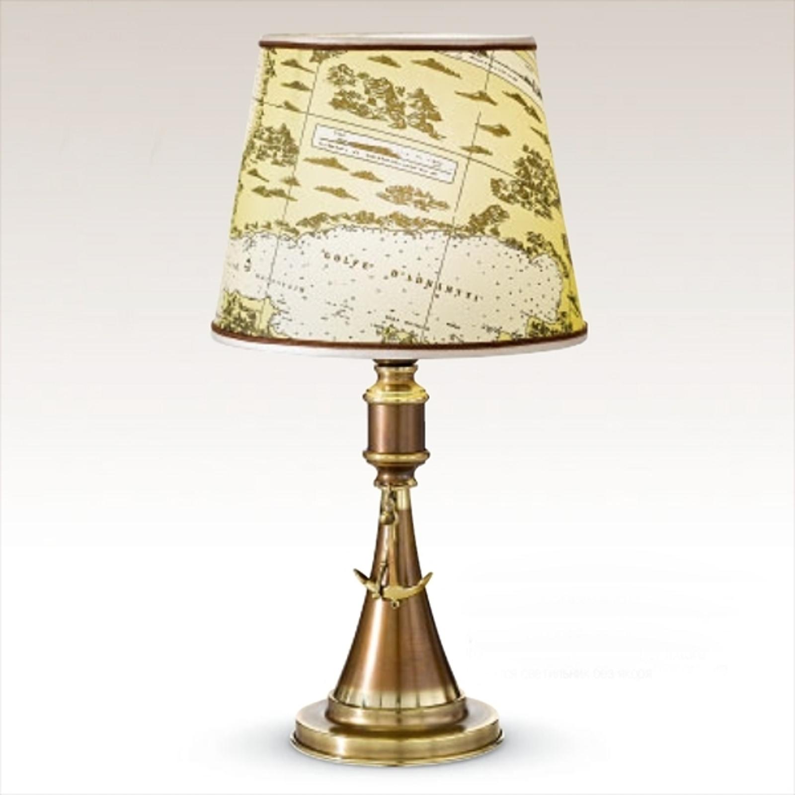 Lampa stołowa Laguna, marynarskie wzornictwo 48 cm