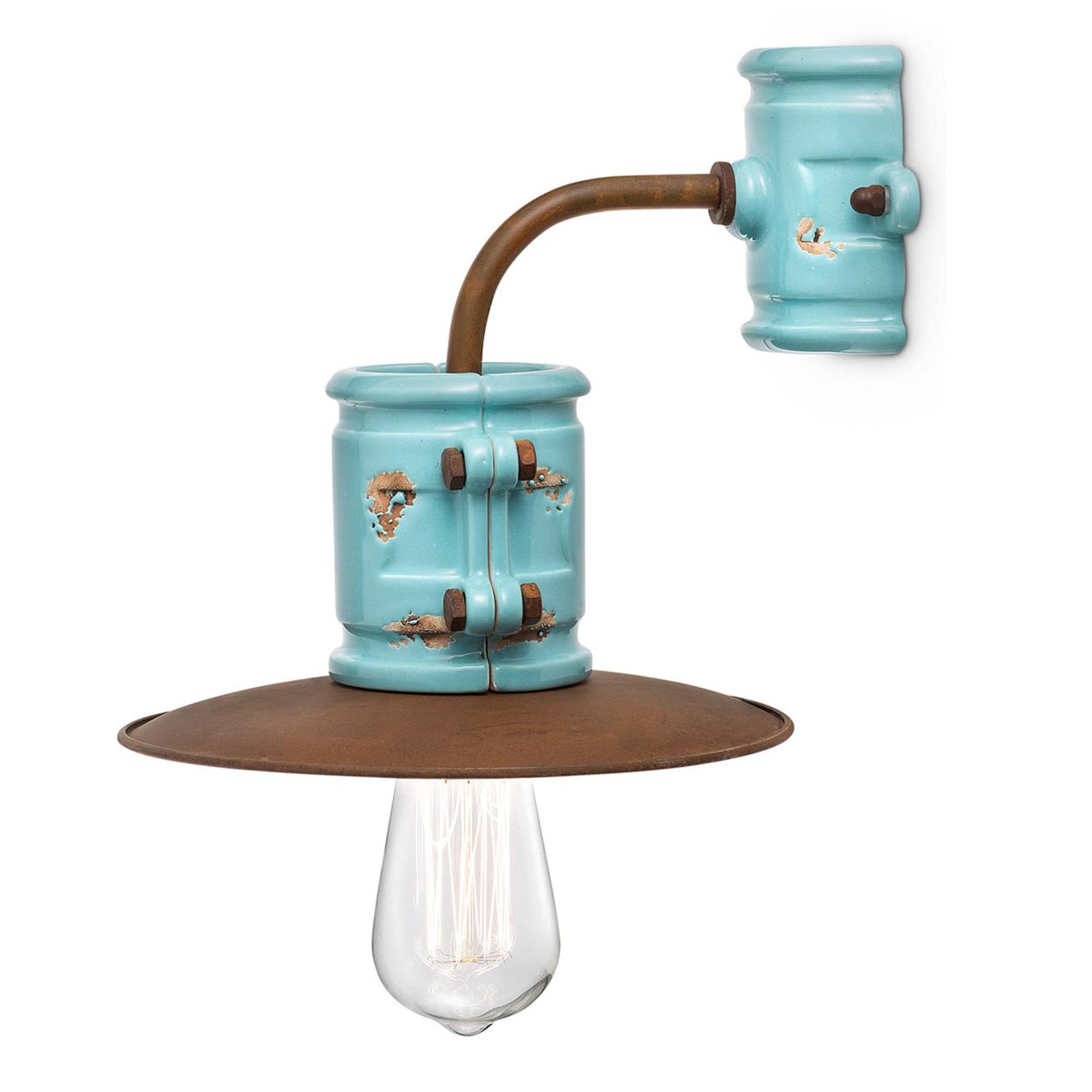 Applique Nicolo au style vintage, turquoise