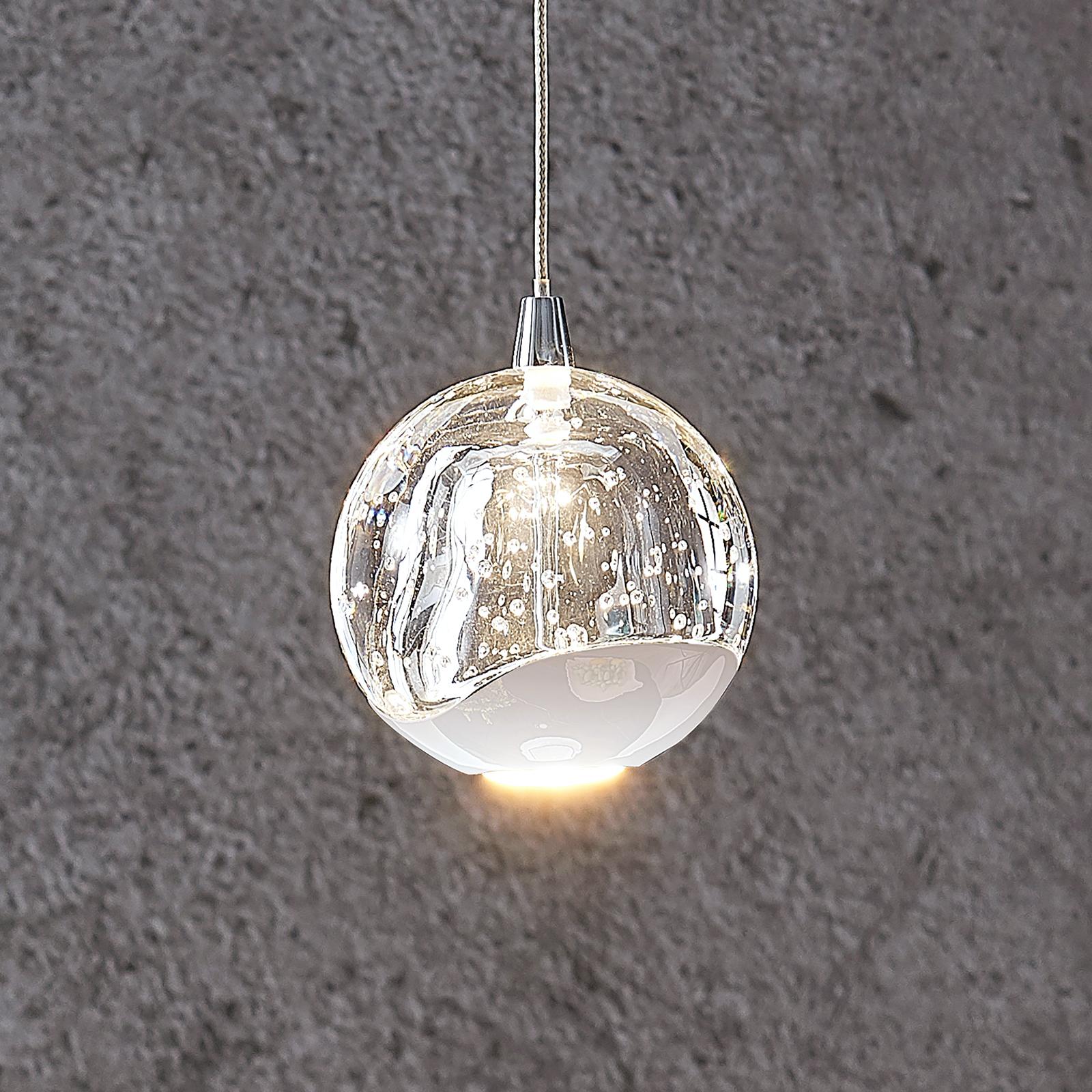 Lampada a sospensione LED Hayley, 1 luce, cromo