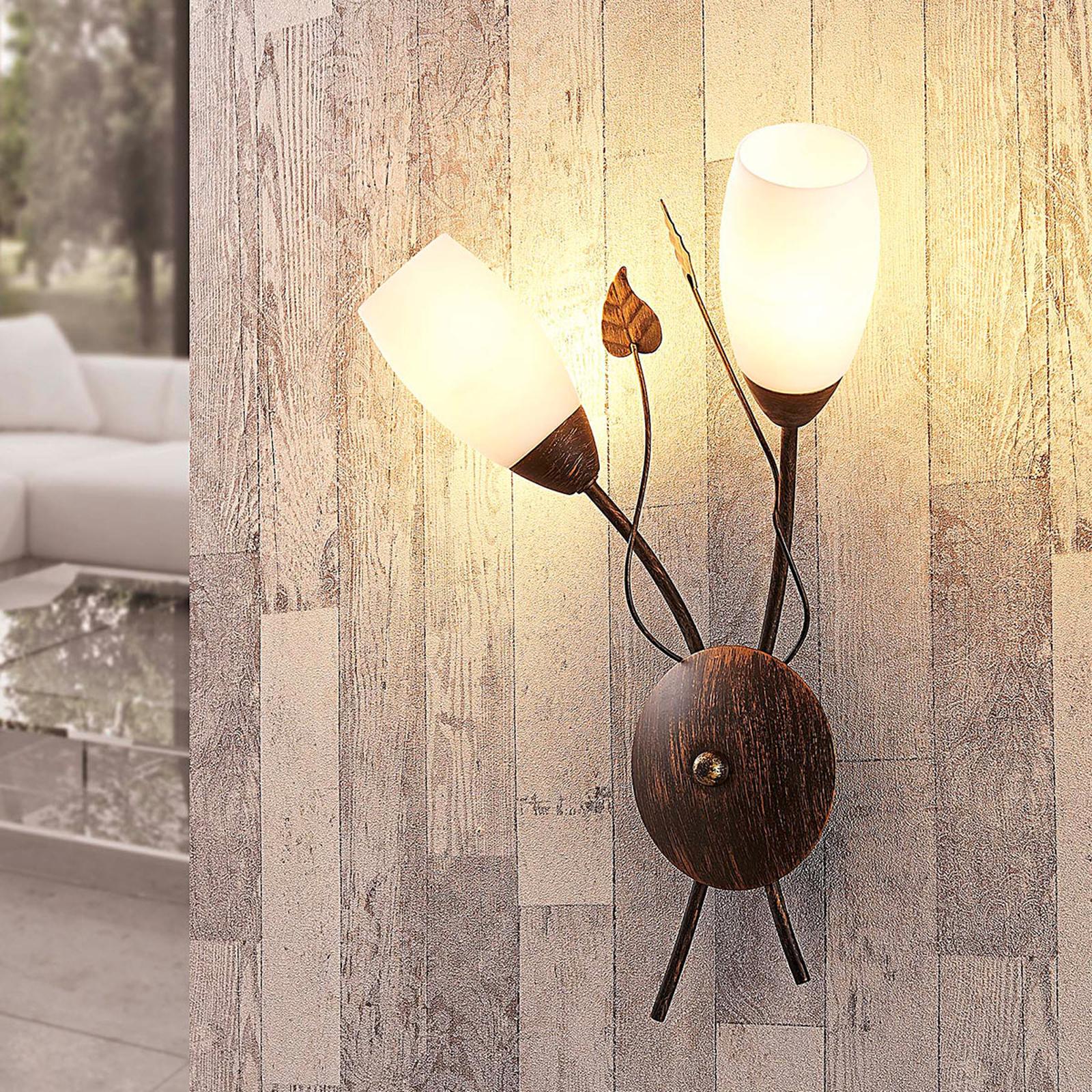 Elegant LED-vegglampe Stefania