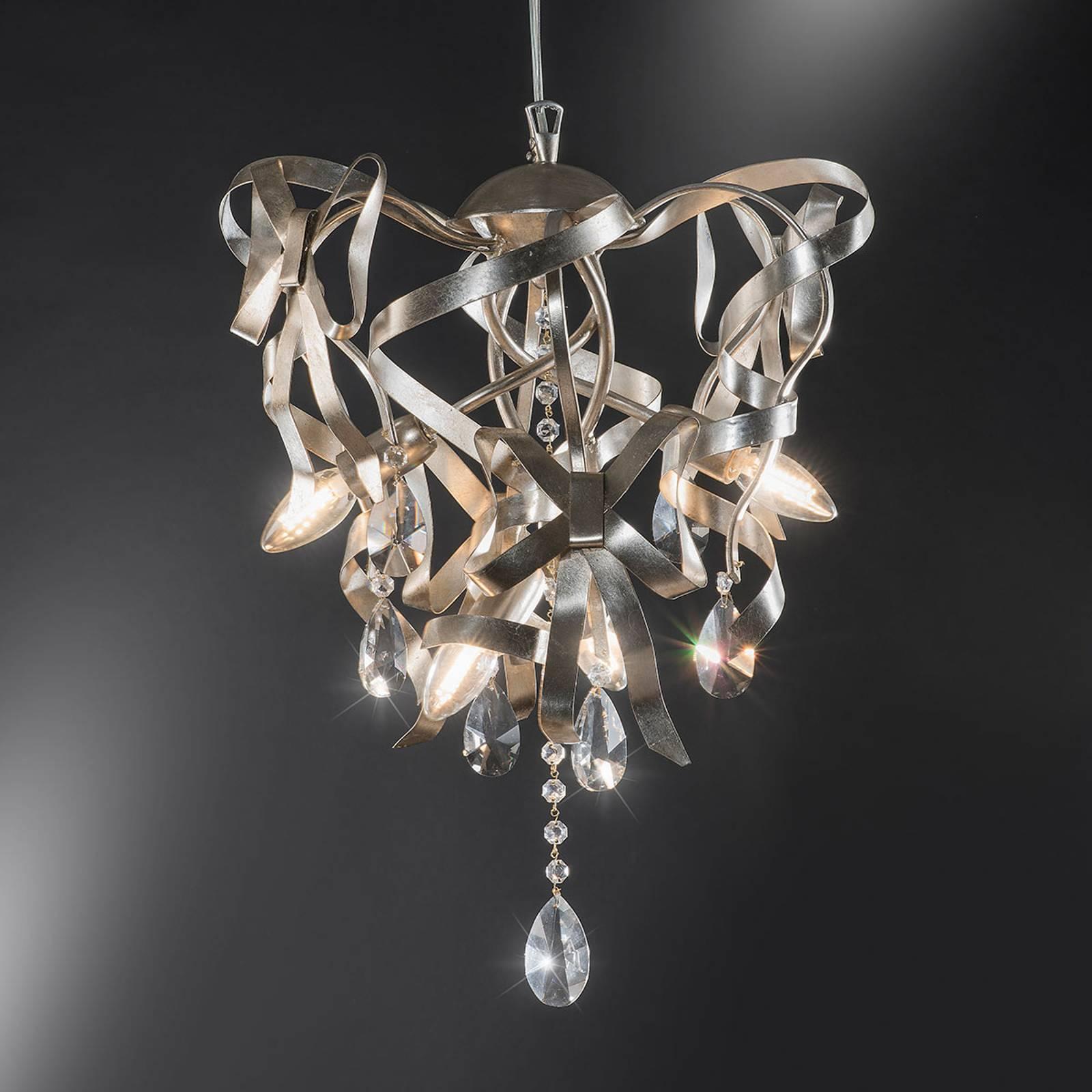 Lampa wisząca 21/4 S płatkowe srebro i kryształy