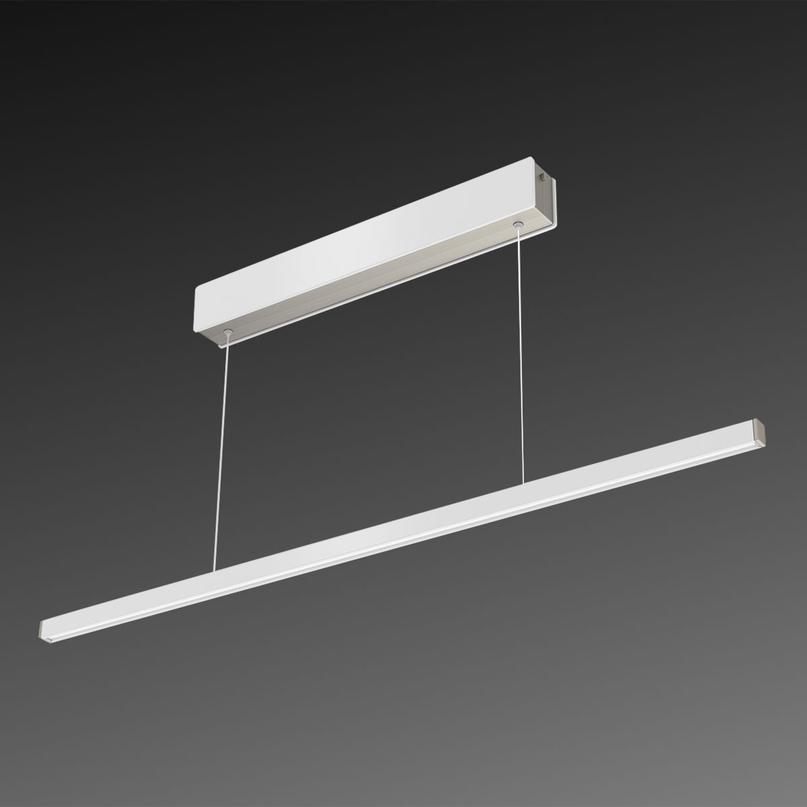 Suspension LED Orix, blanc, 90 cm de long