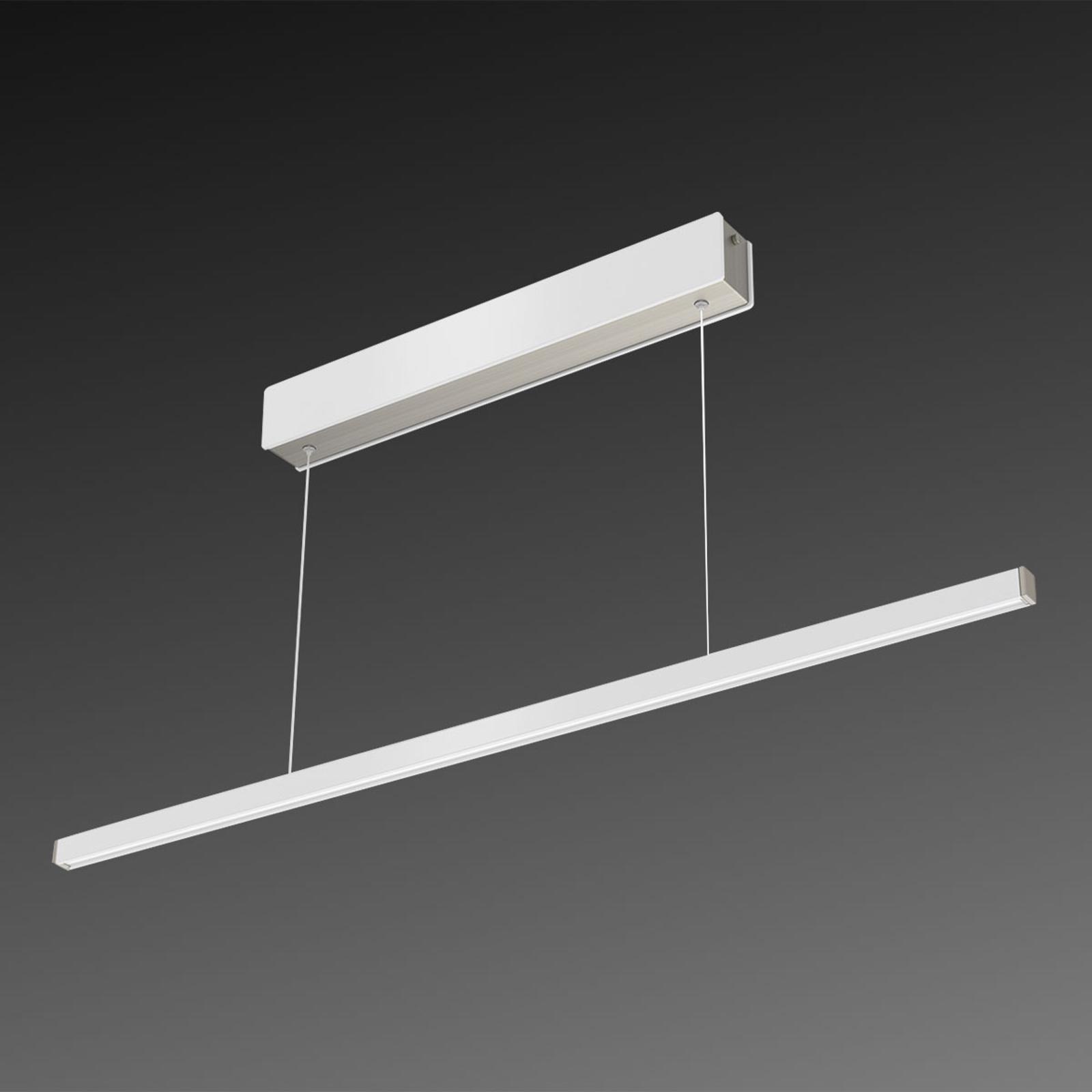 Lampa wisząca LED Orix, biała, 90 cm długości