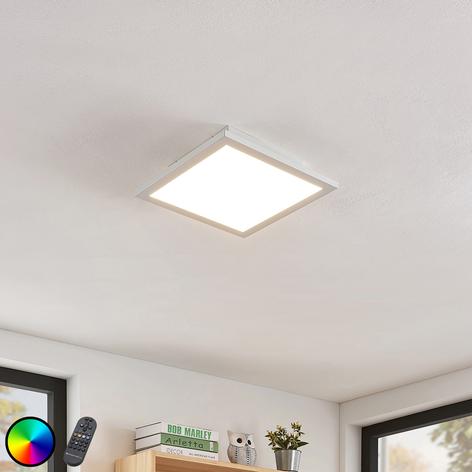 LED-loftlampe Milian med fjernbetjening 30x30cm