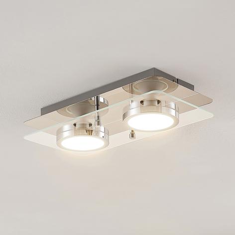Lindby Gabryl LED stropní světlo, dvoužárovkové