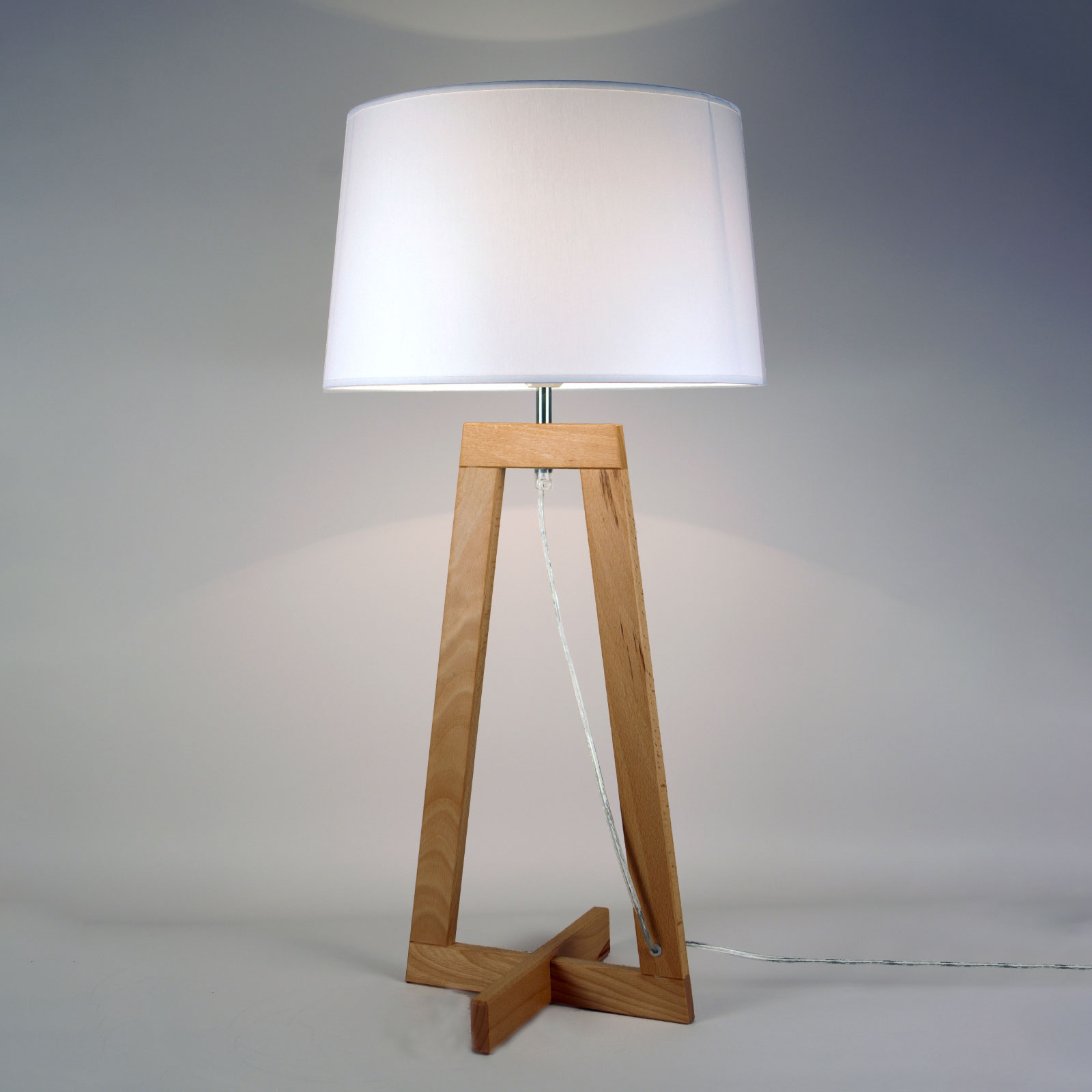 Lampe à poser Sacha LT en tissu et bois