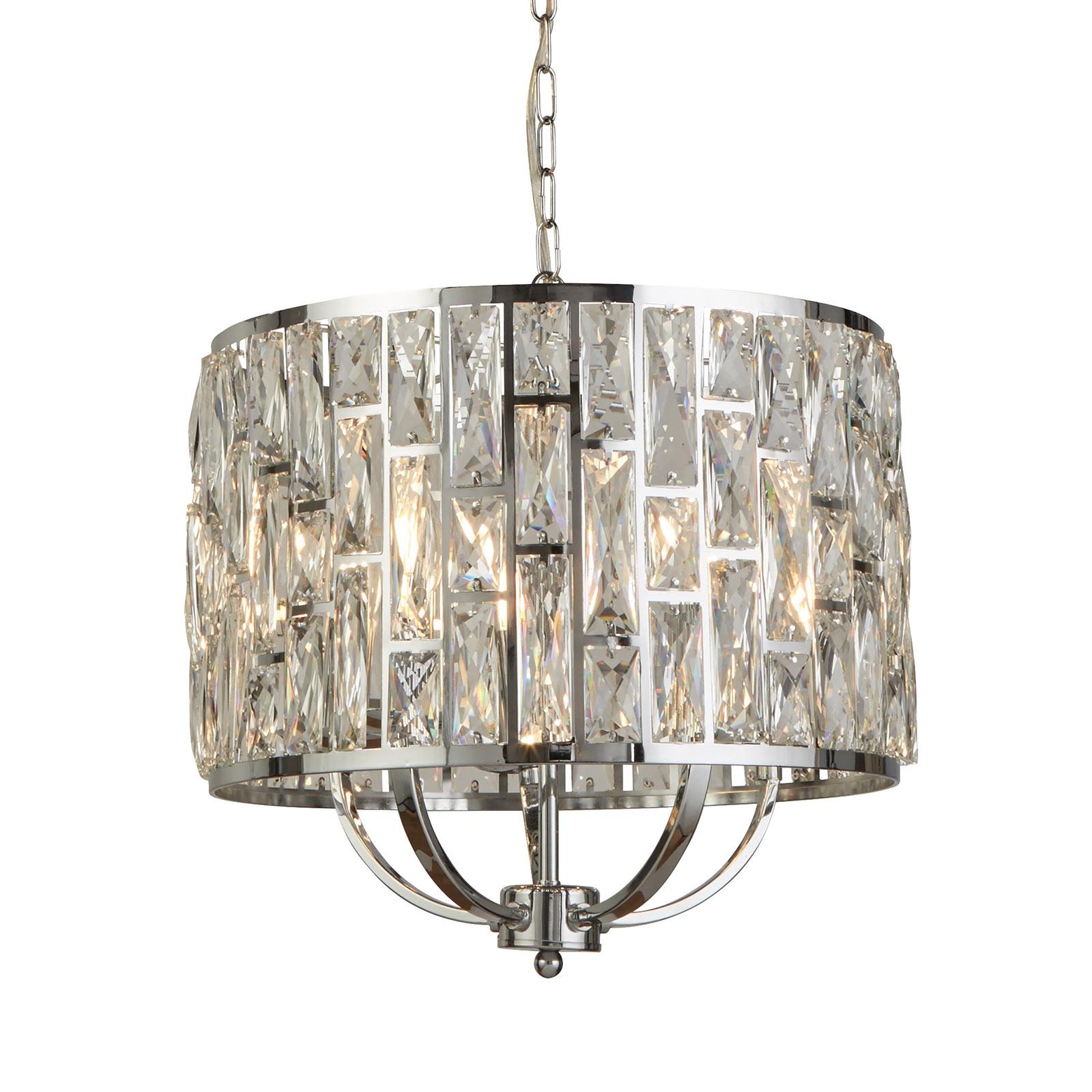 Hanglamp Bijou met kristalglaskap, Ø 44 cm